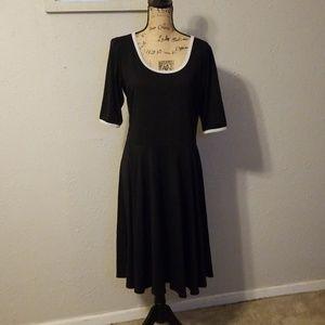 Lularoe Black and White Nicole Dress